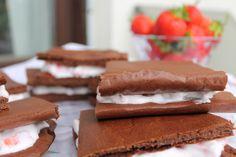 Schokoladen-Erdbeerschnitten
