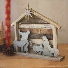 Kalalou Wood And Metal NativityYou can find Nativity scenes and more on our website.Kalalou Wood And Metal Nativity Outdoor Nativity Scene, Nativity Stable, Christmas Nativity Set, Christmas Wood Crafts, Nativity Crafts, Outdoor Christmas, Rustic Christmas, Christmas Projects, Christmas Home