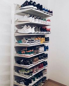 Pin by ashtynn on my room closet bedroom, shoe storage, diy shoe rack. Diy Rack, Diy Shoe Rack, Closet Shoe Storage, Shoe Closet Organization, Shoe Racks For Closets, Regal Design, Rack Design, Shoe Organizer, Closet Bedroom