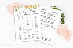 Wedding Weekend Timeline Card and Things to Do, Printable Out of Town Guests, Itinerary, Agenda, Templett Wedding Timeline Template, Wedding Day Timeline, Wedding Vows, Wedding Programs, Wedding Bridesmaids, Wedding Cards, Wedding Templates, Our Wedding, Masquerade Wedding Invitations
