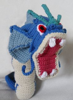 Crochet Gyarados Pokemon by TheQuaintCuddlefish on Etsy, $75.00