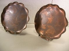 Vintage Home Decor Vintage Serving Trays Copper Dishes Vintage
