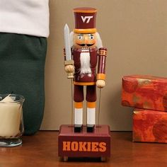 Virginia Tech Hokies 12'' Wind-Up Musical Animated Nutcracker! Check out all of the Hokies Holiday decor here: http://pin.fanatics.com/COLLEGE_Virginia_Tech_Hokies_Accessories_Holiday_Items/source/pin-virginiatech-holiday-decor-sclmp