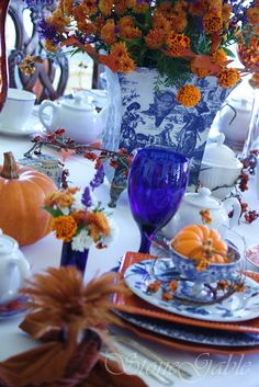 Stone Gable: Autumn High Tea. Check out this blog...Stone Gable for decorating ideas, plus much more!