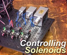 This Arduino Solenoid Tutorial shows how to control a solenoid using pushbuttons and a relay with your Arduino compatible controller. Solenoids are electromagnetically driven actuators. When voltage is applied to the solenoid coil the electromagnetic force pulls the center plunger in. It is an excellent mechanical solution for all kinds of DIY projects requiring short quick linear actuation. Solenoids are most often found in latching and trigger-like mechanisms, such as door locking…
