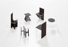"""deargenekelly: """" transparent and black chairs by Guillermo Santomà """" Chair Design, Furniture Design, Interior Architecture, Interior Design, Exhibition Display, Modular Furniture, Cool Tones, Art Object, Plexus Products"""