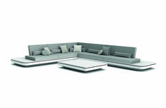With its inviting form and fascinating design, the Elements seating island is a sight for sore eyes - Elements Collection Modular Corner Sofa, Modular Sofa, Outdoor Sofa Sets, Outdoor Furniture, Sore Eyes, Sofa Design, Sofas, Concept, Couch
