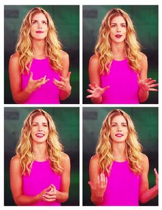 Emily Bett Rickards @Valerie Bond Look at the first picture! She's doing our thing!