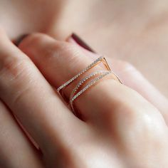 """Frames"" Diamond Ring - Plukka - Shop Fine Jewelry Online"