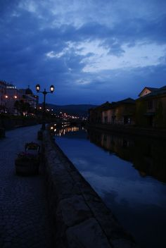 Otaru Canal as night falls