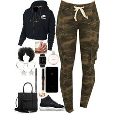 A fashion look from September 2016 featuring NIKE tops, Rebecca Minkoff tote bags and Givenchy earrings. Browse and shop related looks.