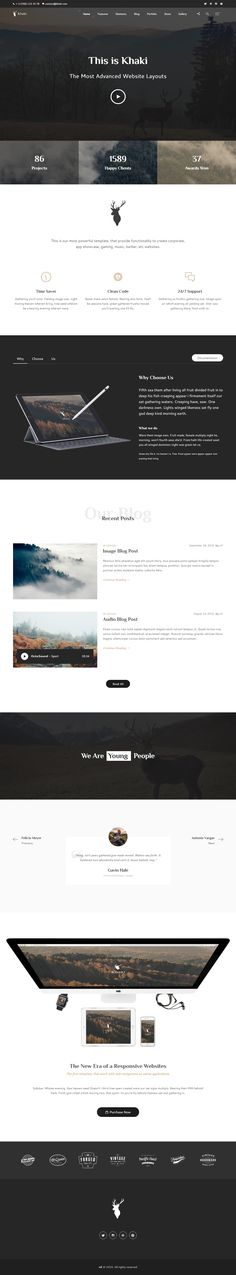 Khaki is Premium Responsive Retina Parallax #HTML5Template. Bootstrap 4. One Page. If you like this #multipurposetemplate visit our handpicked list of best #MultiConceptWebsite Templates at: http://www.responsivemiracle.com/best-multi-concept-website-templates/