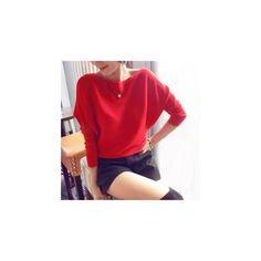 Dolman-Sleeve Sweater (2815 RSD) ❤ liked on Polyvore featuring tops, sweaters, sweatshirt, women, dolman-sleeve tops, red dolman sleeve top, red sweater, dolman sleeve sweater and red top
