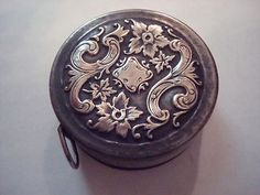 Tiny Antique Silver Art Nouveau Tape Measure                                                                                                                                                      More