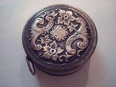 Tiny Antique Silver Art Nouveau Tape Measure                                                                                                                                                      More