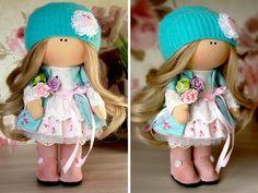 Baby doll Winter doll Christmas doll Handmade por AnnKirillartPlace