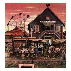 Marmont Hill Four-H Fair Stevan Dohanos Painting Print on Canvas 48 x 48 Home Decor Wall Decor Paintings and Prints Canvas Art Prints, Painting Prints, Saturday Evening Post, Artist Gallery, Norman Rockwell, The World's Greatest, American Artists, Online Art Gallery, Vintage Art