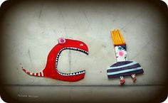 barco de papel - love the characters. . . .