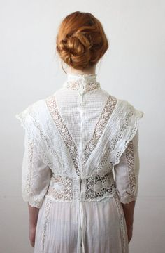 Antique dress - 1910's lace wedding dress