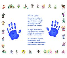 Free activities and craft ideas for kids - Hand Print Poem
