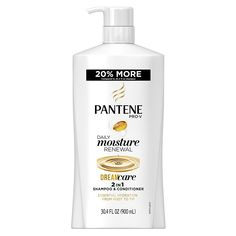 Pantene Pro-V Daily Moisture Renewal 2 In 1 Shampoo and Conditioner, 30.4 Fluid Ounce (Pack of 4) -- This is an Amazon Affiliate link. Click image to review more details.