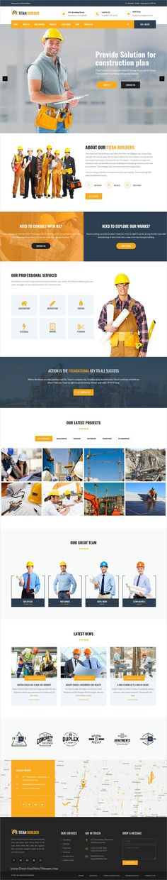 Titan Builders is clean and modern design 5in1 responsive #WordPress theme for #construction, #architect and building companies website download now..