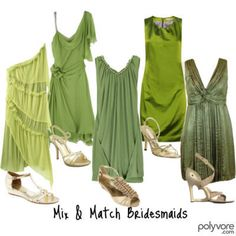 Shades of green? A favorite color, but maybe not on dresses.