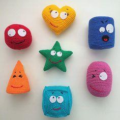Crochet shapes PDF CROCHET PATTERN Instant Download by Amigurushki