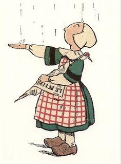 Il pleut ... Images Vintage, Sun Umbrella, Silhouette Portrait, Book Illustration, Rainy Days, Childrens Books, Kids Outfits, 1, Holland