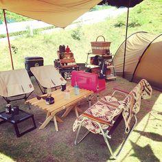#mulpix 昨日からおキャンプ来てます♡ 2泊3日 クソ暑い… アプト式鉄道に乗ったりトーマス Camping Table, Camping Glamping, Diy Camping, Beach Camping, Camping Life, Family Camping, Outdoor Camping, Camping Hacks, Camping Ideas