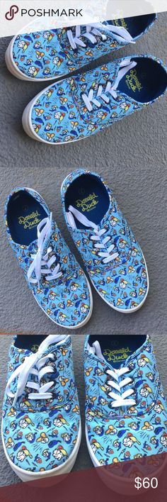 Disneyland Donald Duck shoes Disney Donald Duck limited edition sneakers. Very cute like new, size 7 Disney Shoes Sneakers