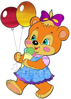 """Photo from album """"Сказочные зверюшки"""" on Yandex. Felt Flowers Patterns, Bear Images, Clip Art Pictures, Cute Cartoon Drawings, Cute Clipart, Rare Animals, Cute Teddy Bears, Gif Animé, Machine Embroidery Patterns"""