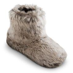 KICS Toddler Slippers Pink Faux Fur Booties Leopard Fleece Non Skid Soles S M L
