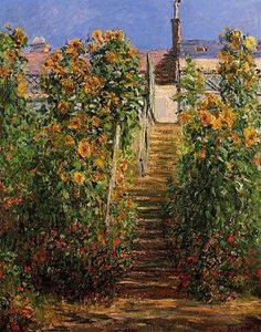 The Steps at Vetheuil, Claude Monet