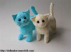 to sew these adorable washcloth kitties!, pattern to sew these adorable washcloth kitties!, pattern to sew these adorable washcloth kitties! Sewing Toys, Sewing Crafts, Sewing Projects, Crochet Crafts, Diy Projects To Try, Craft Projects, Craft Ideas, Diy Couture, Sock Animals