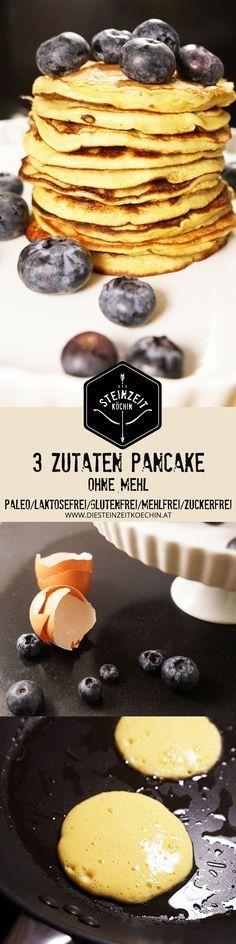 3 zutaten pancakes, ohne mehl, schnell zubereitet, ohne kohlenhydrate, ideal zum Abnehmen, ein schnelles Frühstück, gesund und getreidefrei, laktosefrei und mit Banane gesüßt. in wenigen Minuten zubereitet mit nur 3 Zutaten.