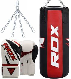 RDX Pro Punch Bag Cowhide Leather Filled 3FT MMA Boxing Punching Gloves Muay Thai Kickboxing Training | NewMarts Sports