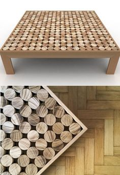 Low square solid wood coffee table SOFIA by mg12 | #design Monica Freitas Geronimi