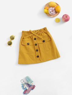 Shop Girls Bow Detail Button Up Skirt online. SHEIN offers Girls Bow Detail Button Up Skirt & more to fit your fashionable needs. Baby Girl Dresses, Baby Dress, Kids Outfits, Cute Outfits, Button Up Skirts, Girls Bows, Blouse Dress, Cami Tops, Girls Shopping