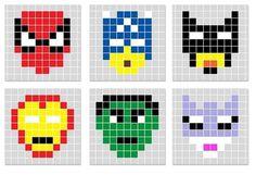 Safety Pin Crafts, Perler Bead Templates, Math Art, Melting Beads, Tapestry Crochet, Hama Beads, Fuse Beads, Plastic Canvas Patterns, Bead Art