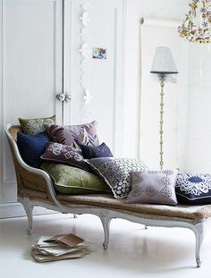 Chaise lounge...you can never have enough pillows