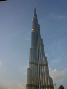 In Dubai- Burj Khalifa, tallest tower in the world...the view from the top is amazing!