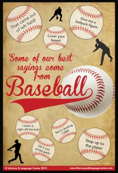 Some of our best sayings come from baseball.  Okay...it's not Cubs stuff, but it is baseball!