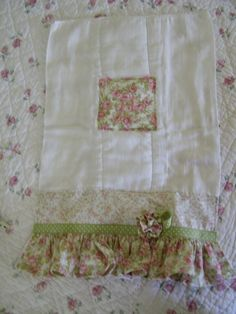 shabby chic Burp cloth by Reggaroos on Etsy