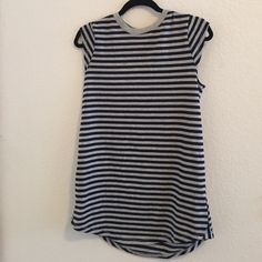 Striped gray and blue t shirt dress! Really nice striped t shirt dress that has never been worn! New with tags! Super nice material and in perfect condition. Urban Outfitters Dresses Mini