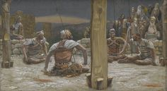 James Tissot - Les quatre gardes s'assirent et le gardèrent
