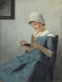Ernst Anders (1845 - 1911) -A quiet read