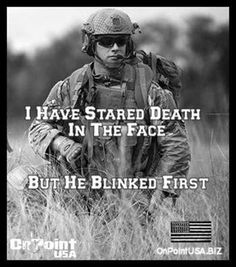 I feel this quote means that our military men are stronger than you will ever think. I think this also means that they are not scared of death because they know whats right and they know they have to defend out country. Military Quotes, Military Humor, Military Love, Army Quotes, Usmc, Marines, Pomes, My Champion, Warrior Quotes