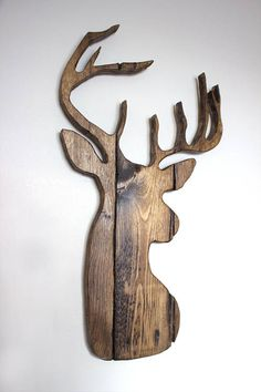 Rustic Home Decor, Farmhouse Decor, Rustic Cabin Decor, Hunting Gifts, Hunting Decor, Deer Head, Gifts for Men, Deer Silhouette #affiliate #decor #homedecor #hunting #deer #country #rustic #farmhouse