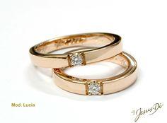 Fedi in oro e diamanti realizzate artigianalmente